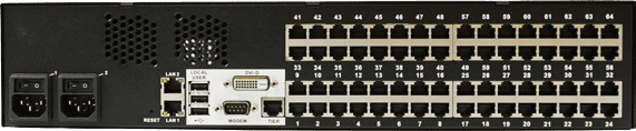 Out-of-band KVM-over-IP switches (e.g. Dominion KX3 from Raritan)