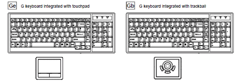 HF117 Trackpad or Trackball Options