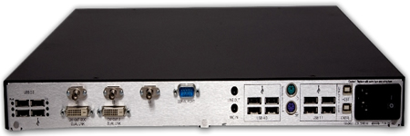 Thinklogical Velocitykvm-8 Receiver Backview