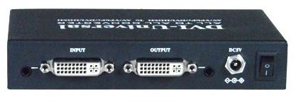 Picture of the rear inputs/outputs of the UNV-DVI-CNVTR