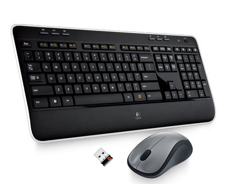 KVM Switch with Wireless Keyboard & Mouse
