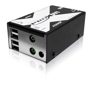 Adder X-DVIPRO-MS2 Dual Monitor DVI CAT5 KVM Extender with transparent USB & Audio