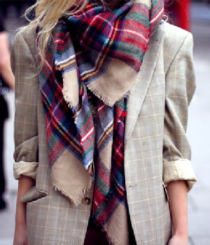 da8d7c1ad5c The big plaid scarf. This is the perfect way to add a pow of cool and color  into your every day fall and witner looks!