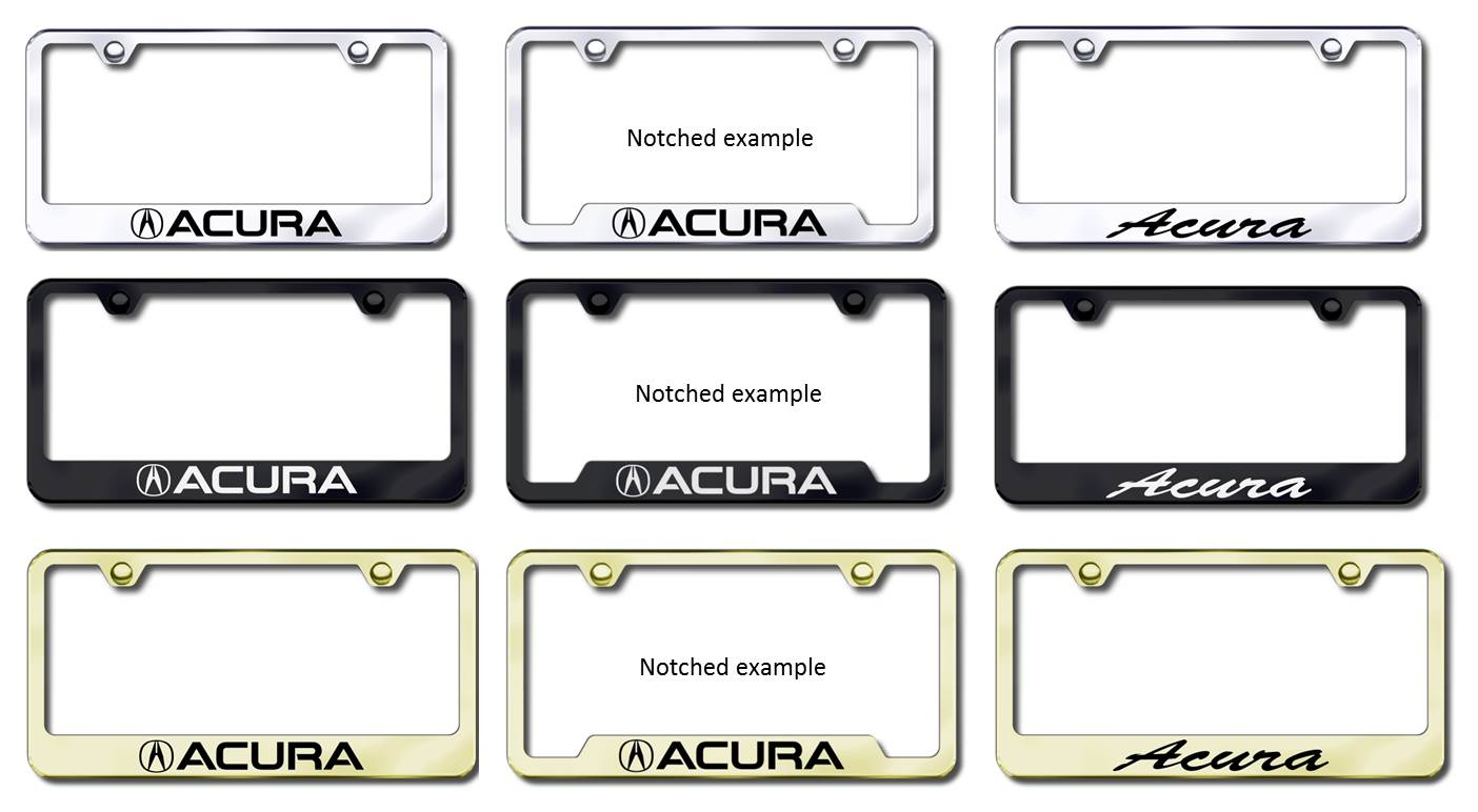 Acura License Plate Frames LICENSE PLATE FRAMES - Acura tl license plate frame