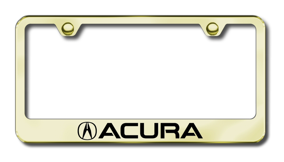 Factory Font Etched License Frames - ALL Vehicles - LICENSE