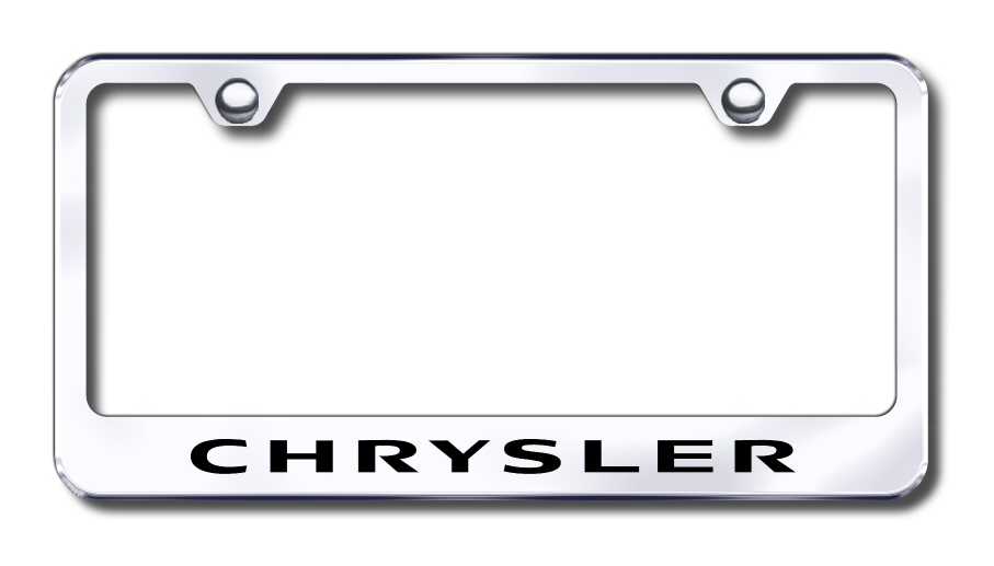 Factory Font Etched License Frames - ALL Vehicles - LICENSE PLATE FRAMES