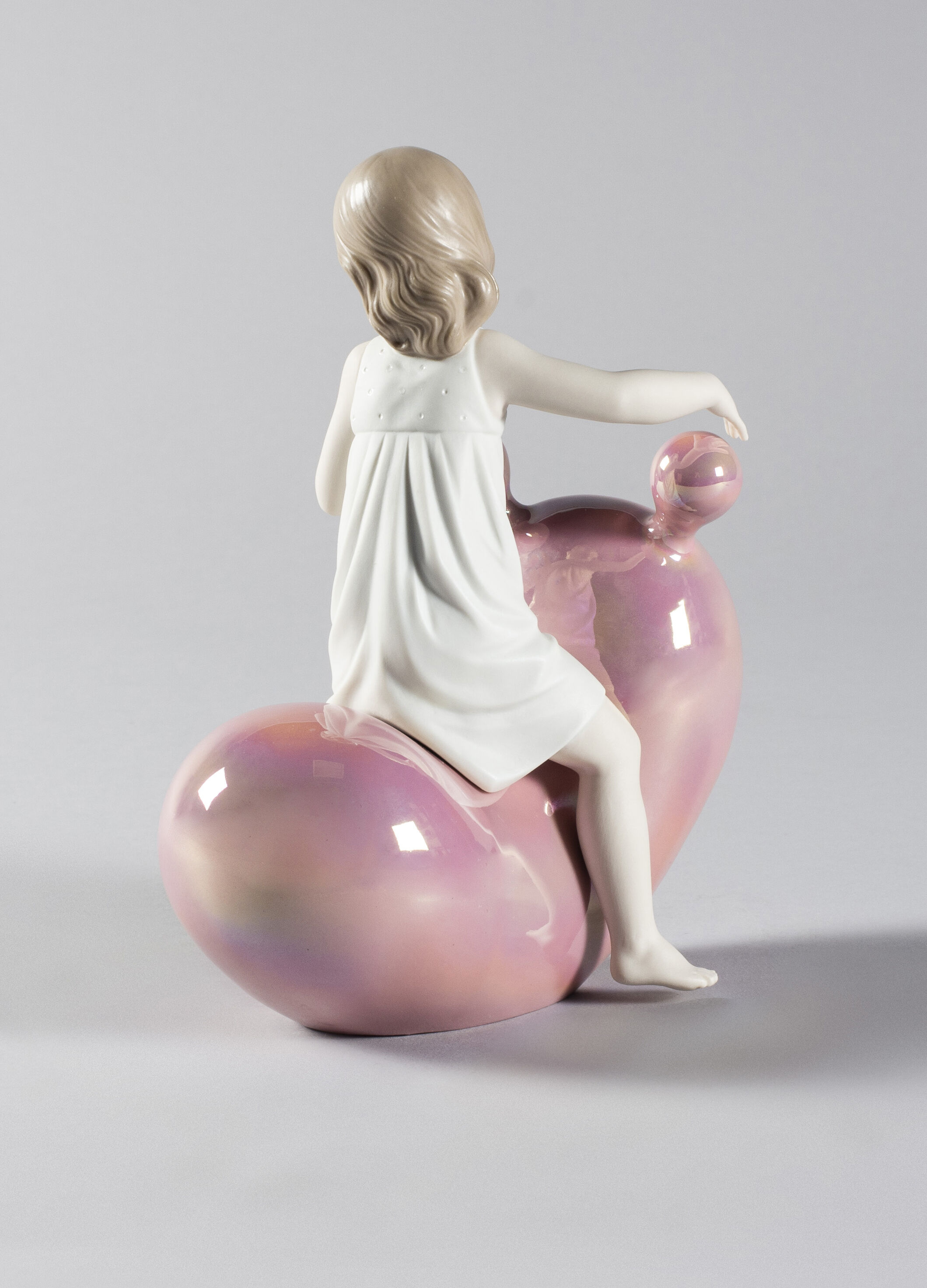 Lladro My Seesaw Balloon Girl Pink