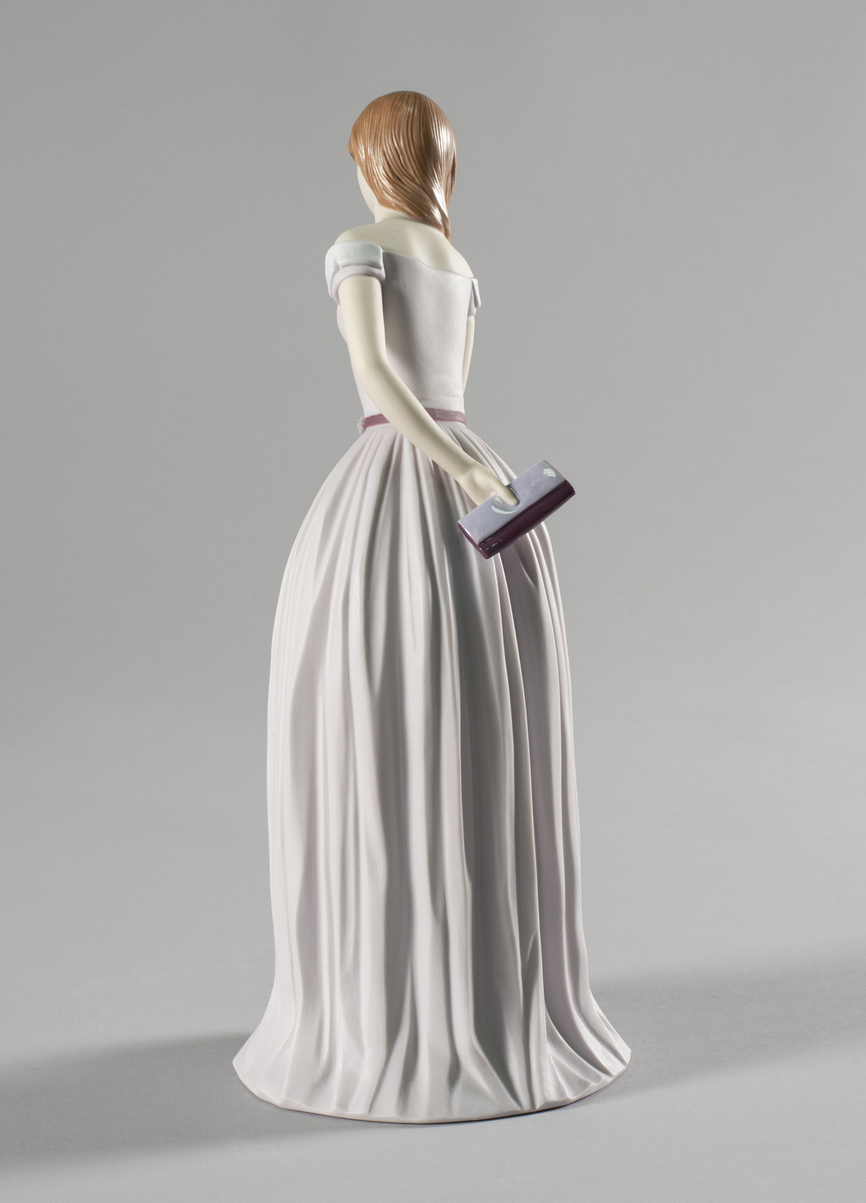 Lladro I'll Walk You to the Party Woman with Dog