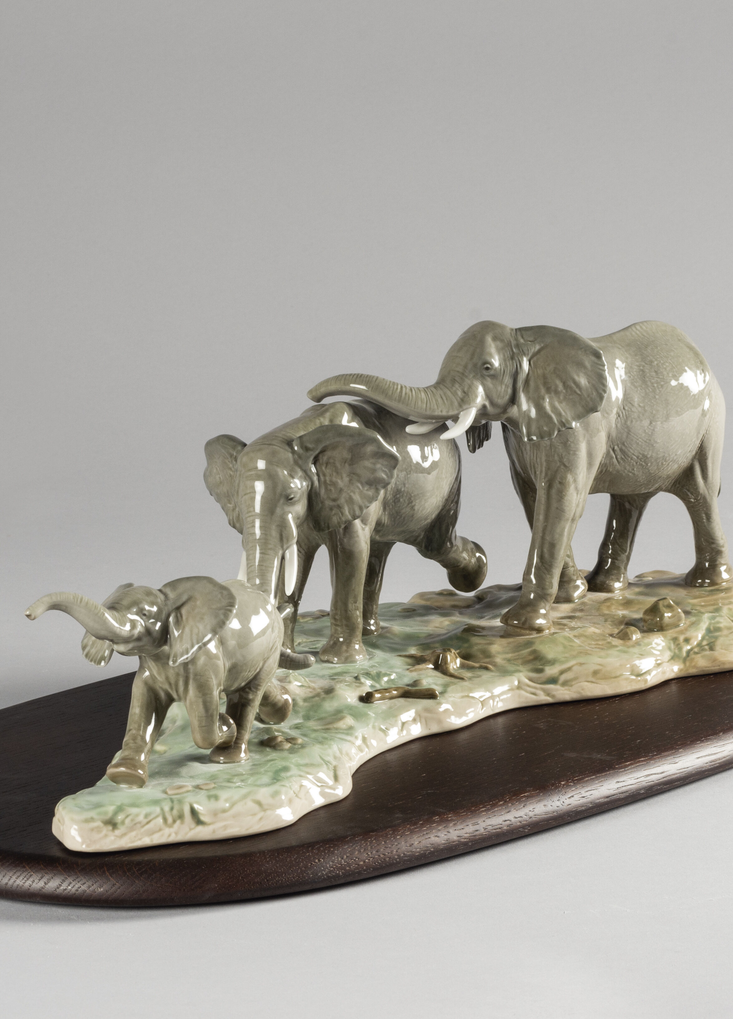Lladro We Follow in Your Steps Elephants