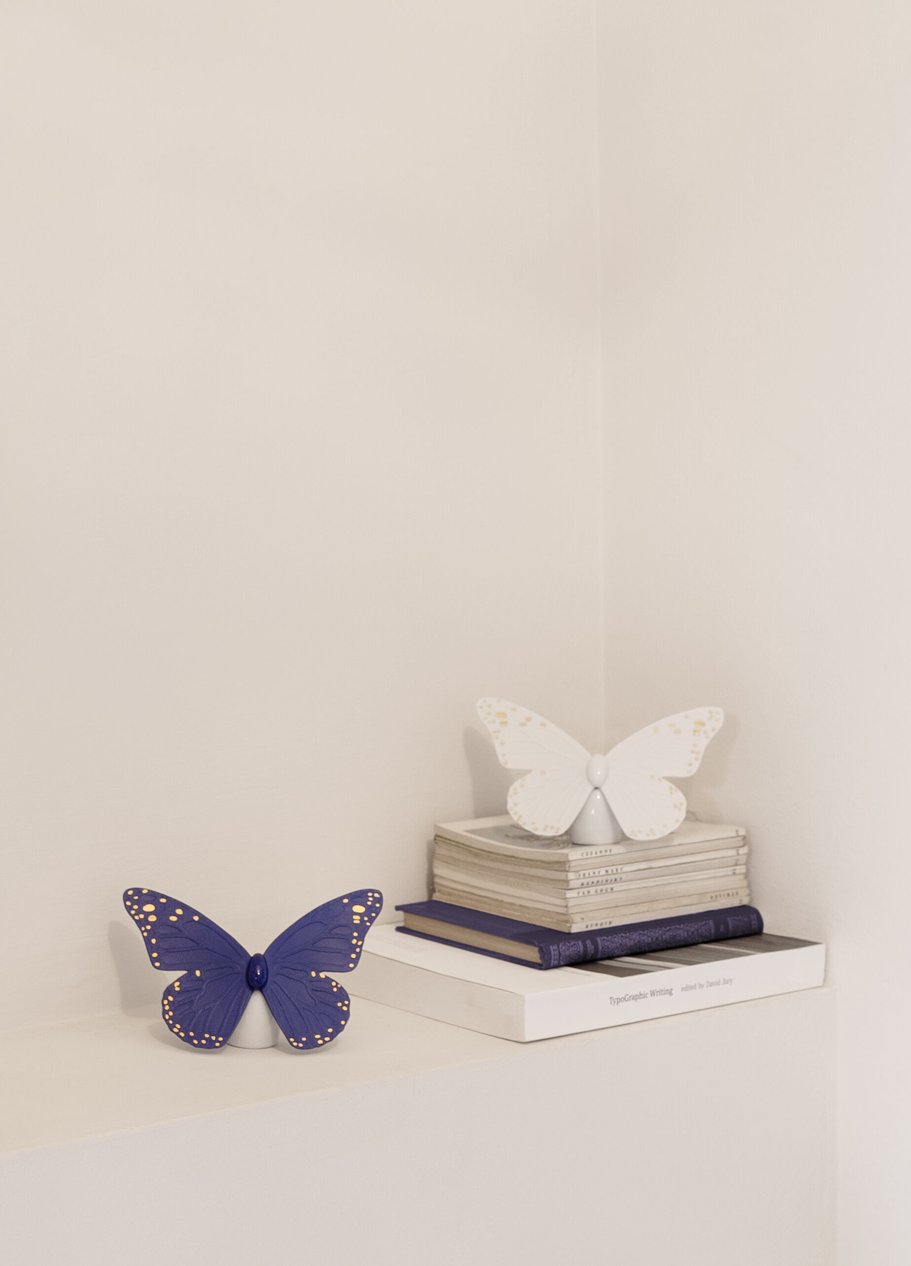 Lladro Butterfly Golden Luster & Blue