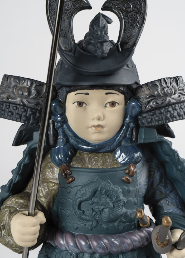 Lladro Warrior Boy Blue