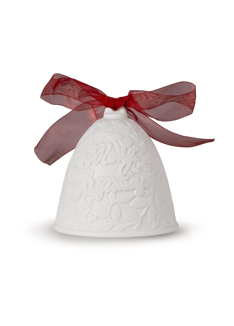 Lladro 2020 Christmas Bell. Red