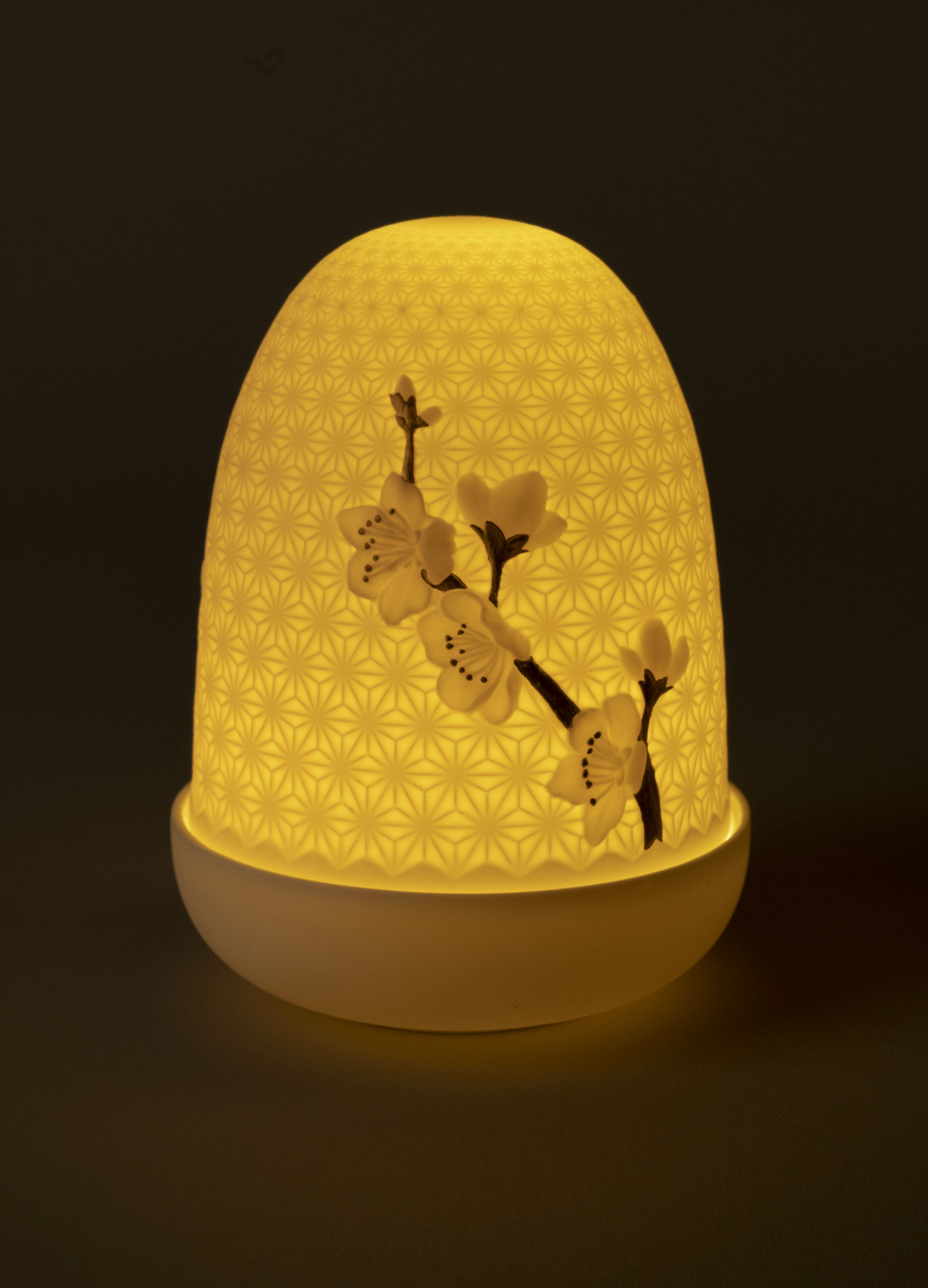 Lladro Cherry blossoms Dome Table Lamp