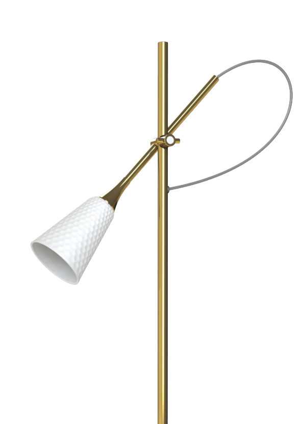 Lladro Jamz Floor Reading Lamp. Gold. (CE)