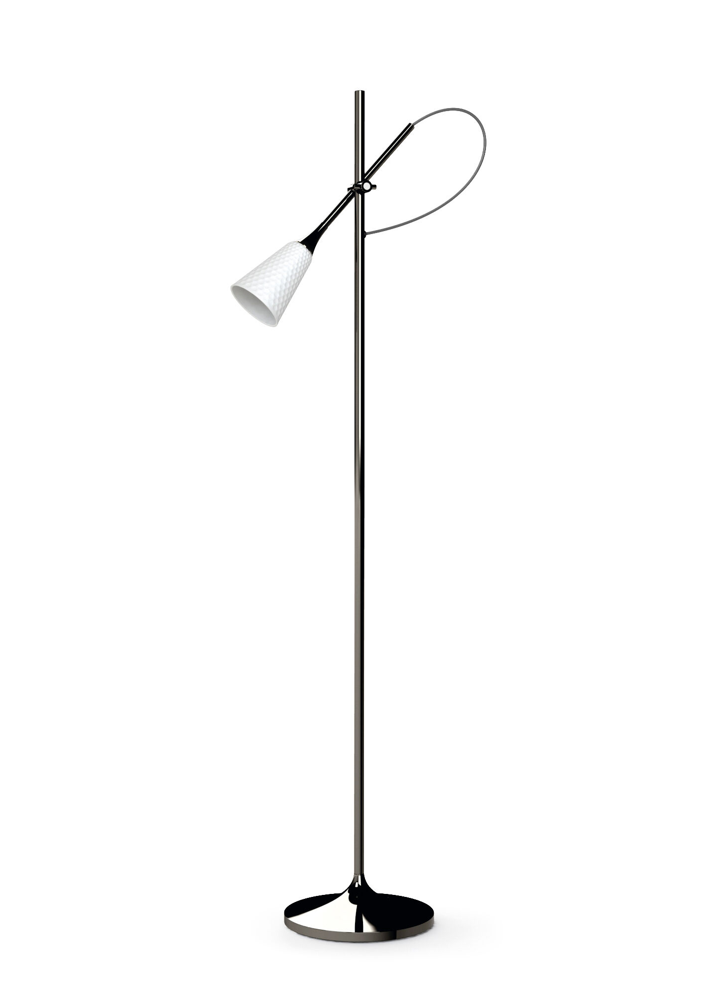 Lladro Jamz Floor Reading Lamp. Black. (CE)