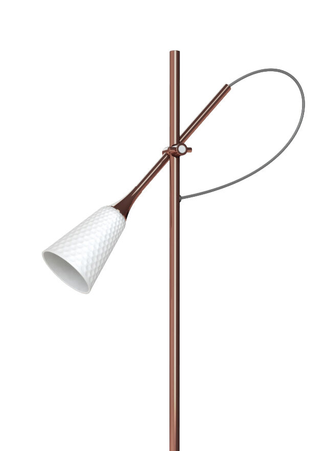 Lladro Jamz Floor Reading Lamp. Copper. (CE)