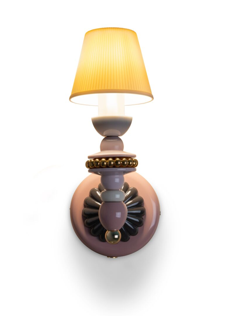 Lladro Firefly Wall Sconce. Pink and gold. (US)