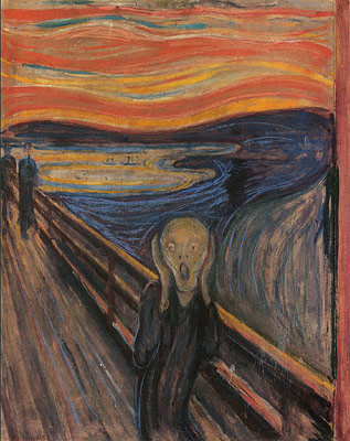 Featuring A Ghoulish Figure That Looks Like The Host From Tales Crypt Backdrop Of This Expressionist Painting Is Said To Be Oslo Norway