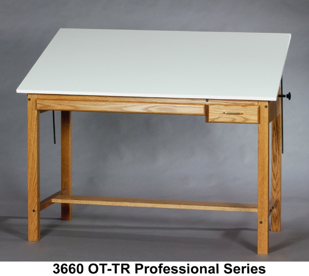 This is too large a piece of furniture for UPS. Oversize Shipping via a  National Freight Company: $278.00 - SMI PROFESSIONAL SERIES DRAFTING TABLE Wood Four-post Table
