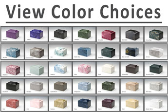 Military Olympus Cultured Marble Cremation Urn Vault Engravable 34 Color Choices