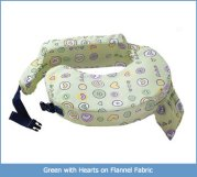 Nursing Pillow Green with Hearts