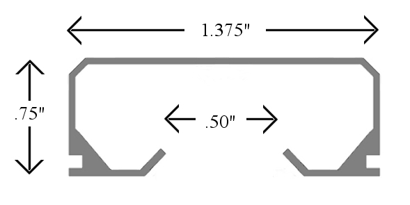 curtain track dimensions