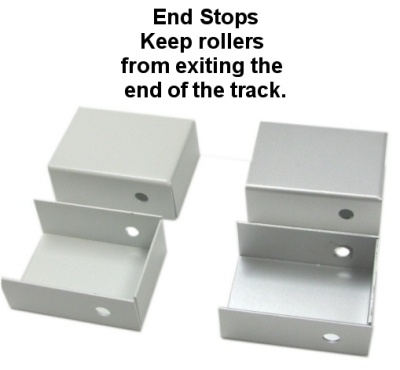 curtain track end stops
