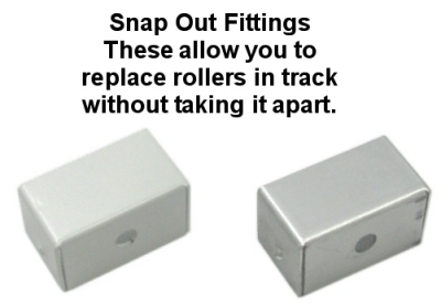 curtain track snap out fittings
