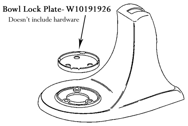 KitchenAid Mixer Bowl Lock Plate