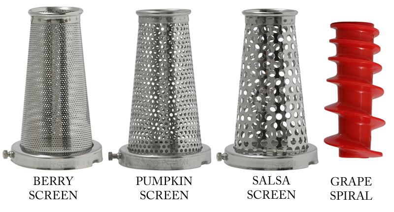 Victorio VKP250-5 Food Strainer Sauce Maker Accessory 4 Pack