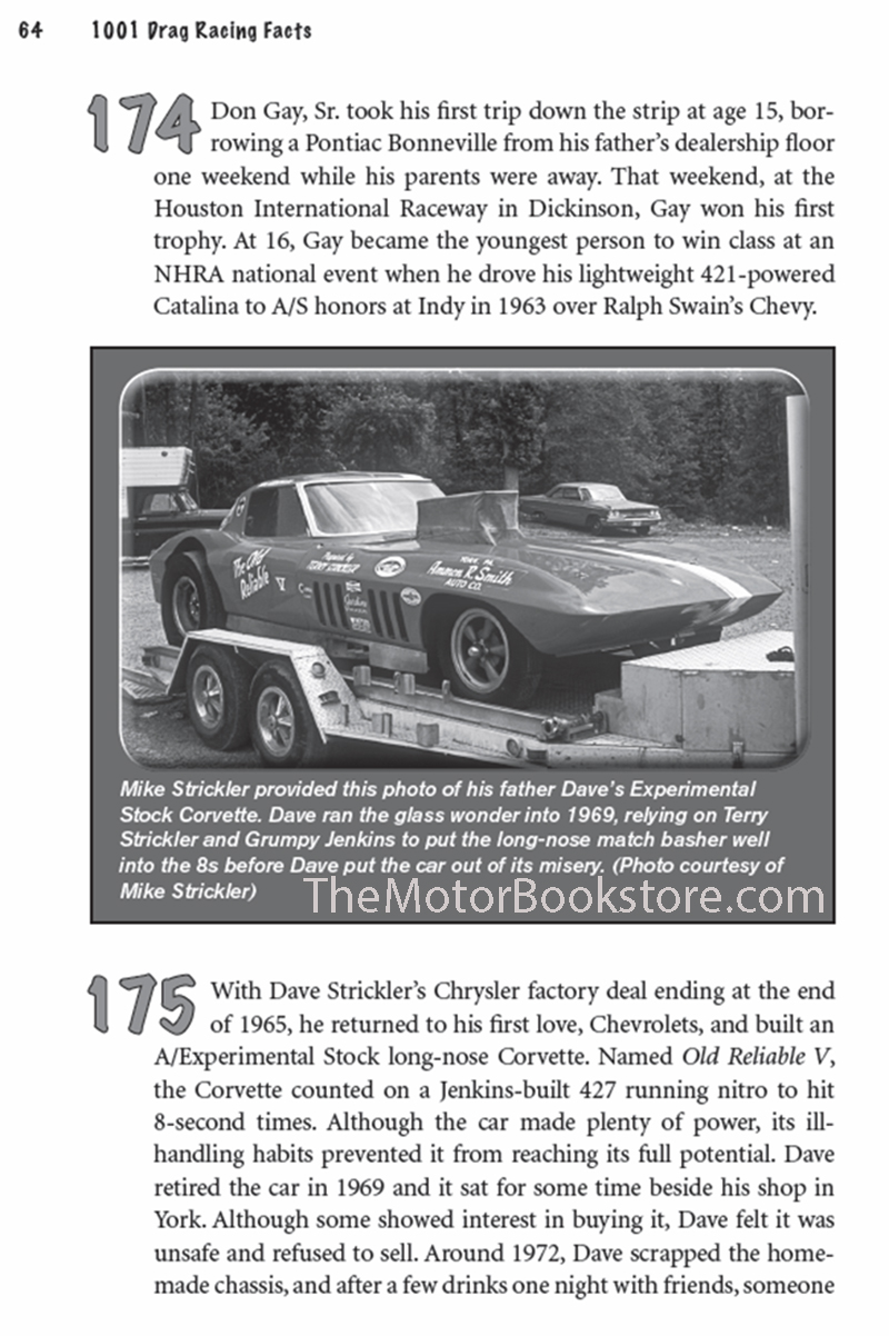 1001 Drag Racing Facts - Sample Page – CT539