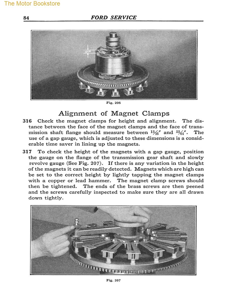 1909 - 1927 Ford Model T, TT Service Manual Sample Page - Clamps