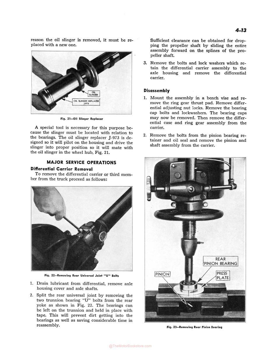 1942-48 Chevy Car / 1942-46 Chevy Truck Shop Manual Sample Page - Differential