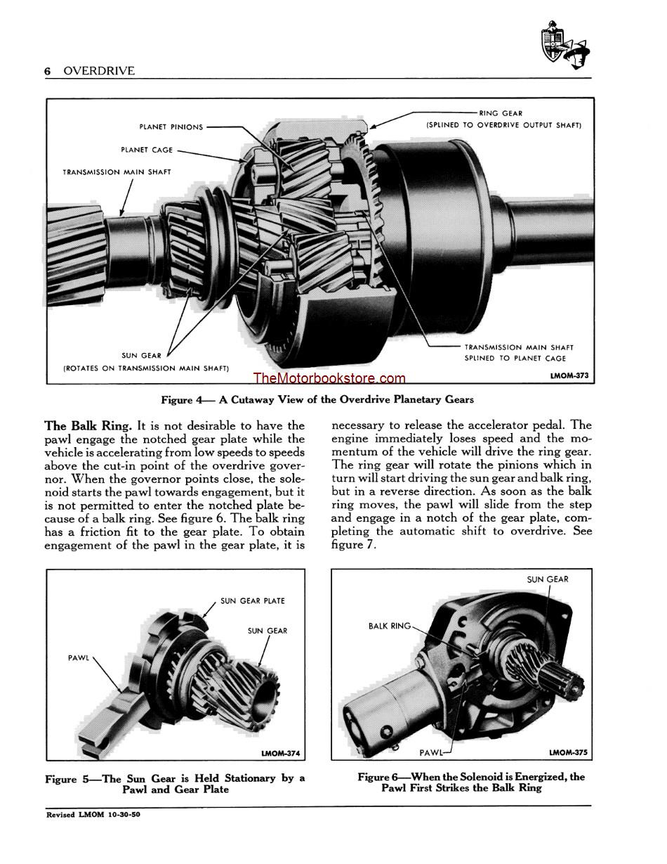 1949 - 1951 Lincoln Mercury Overhaul Manual Sample Page - Overdrive