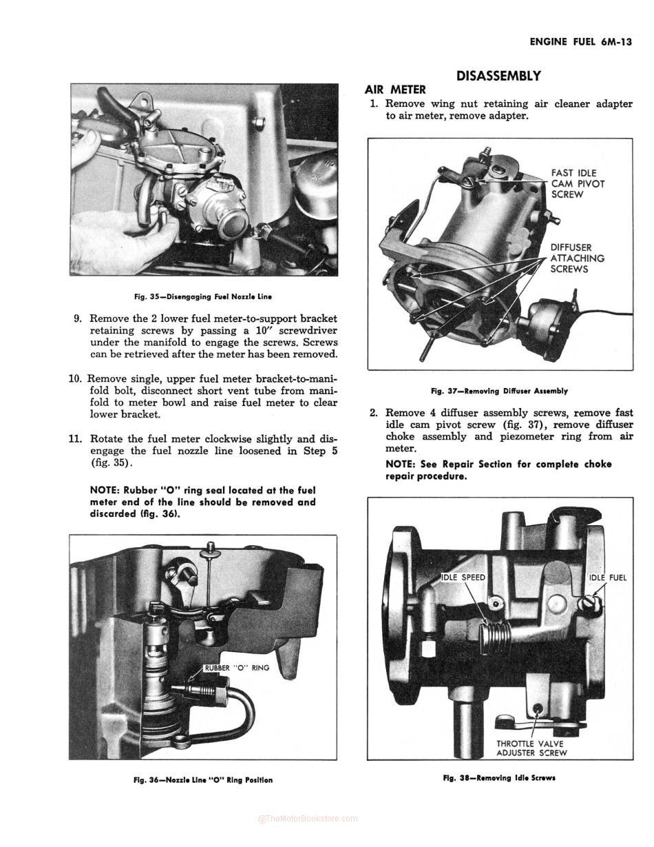 1953-1962 Chevrolet Corvette Servicing Guide - Engine Fuel Section