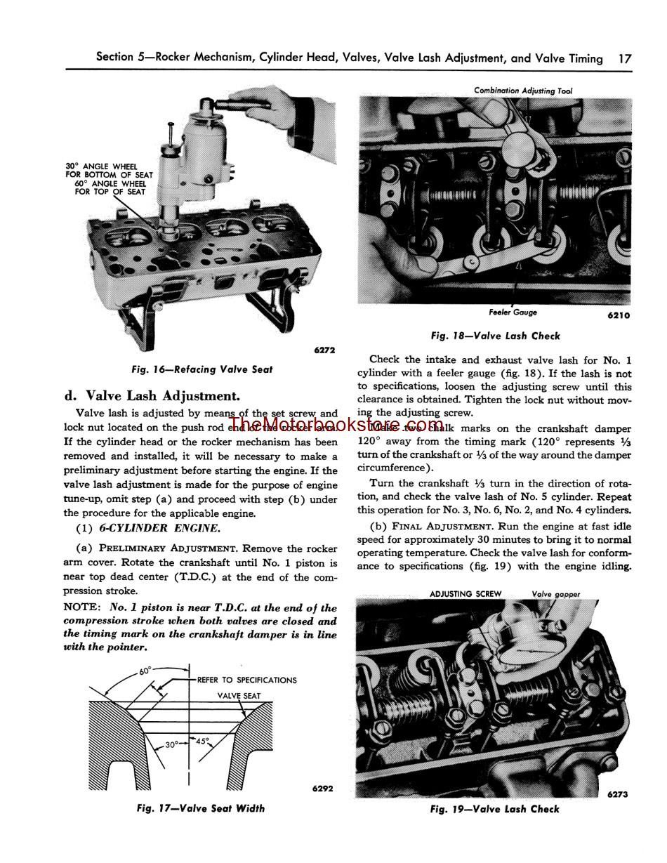 1955 Ford Car and Thunderbird Shop Manual Sample Page - Engine