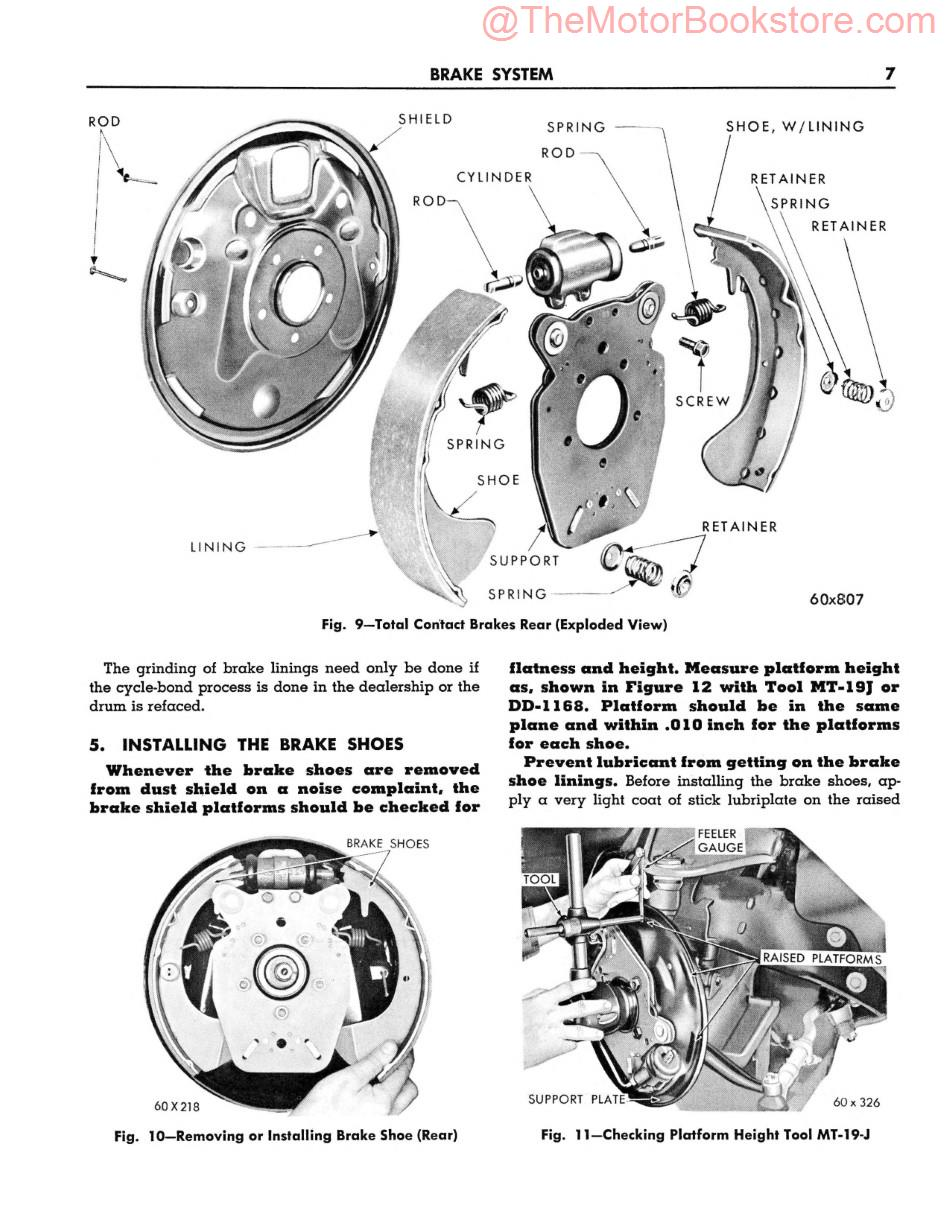 1960 Plymouth Service Manual Sample Page - Brake System