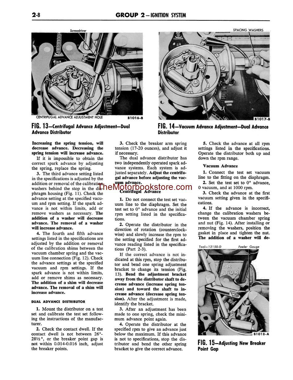 1962-1963 Ford Galaxie Shop Manual Sample Page - Ignition