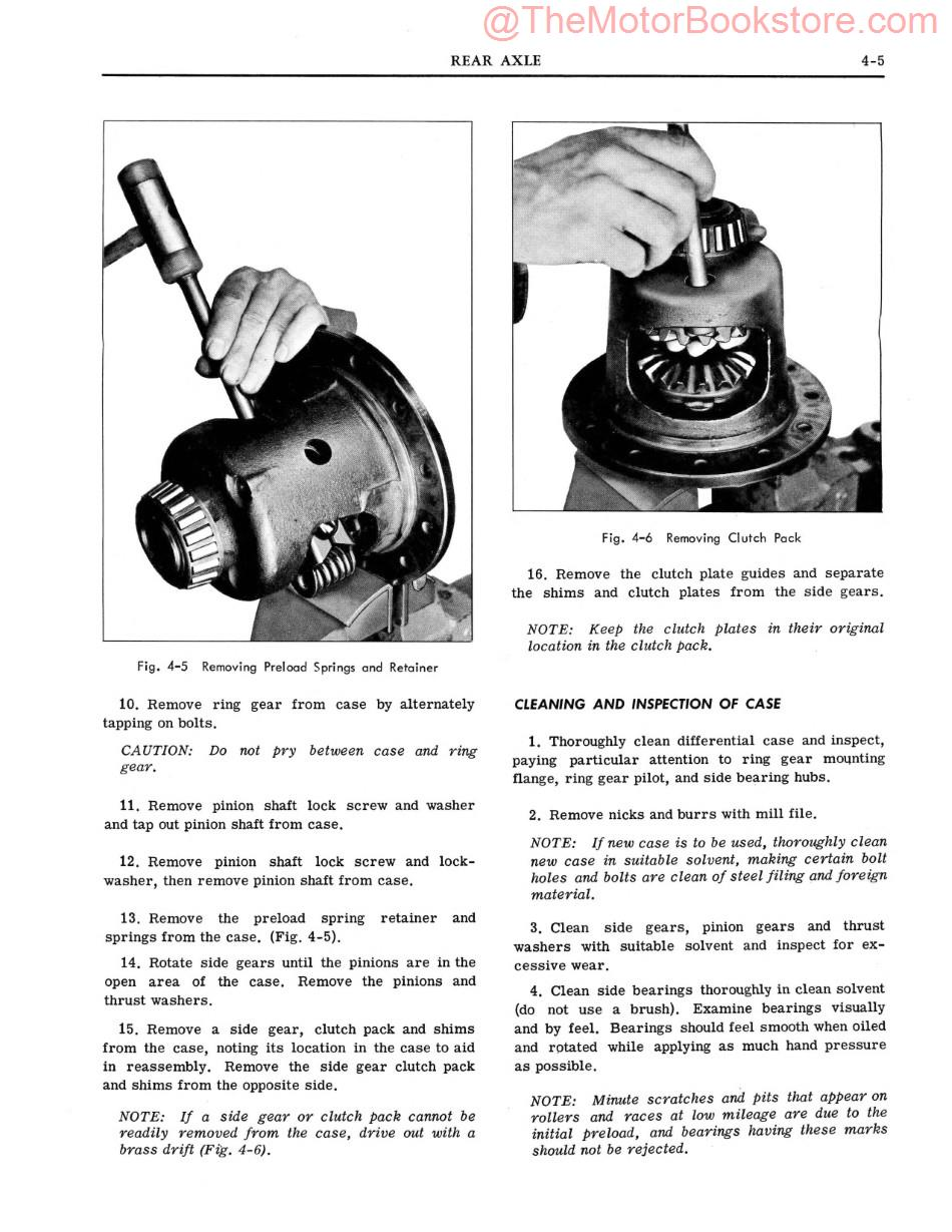 1964 Pontiac Chassis Shop Manual Supplement Sample Page - Rear Axle
