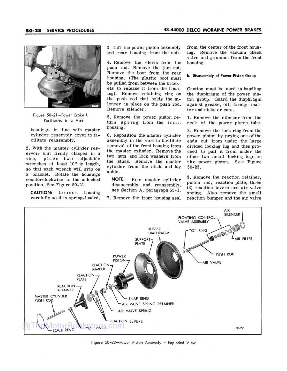 1966 Buick Chassis Service Manual (All Series)  Sample Page 1 - Brakes Power Piston Assembly