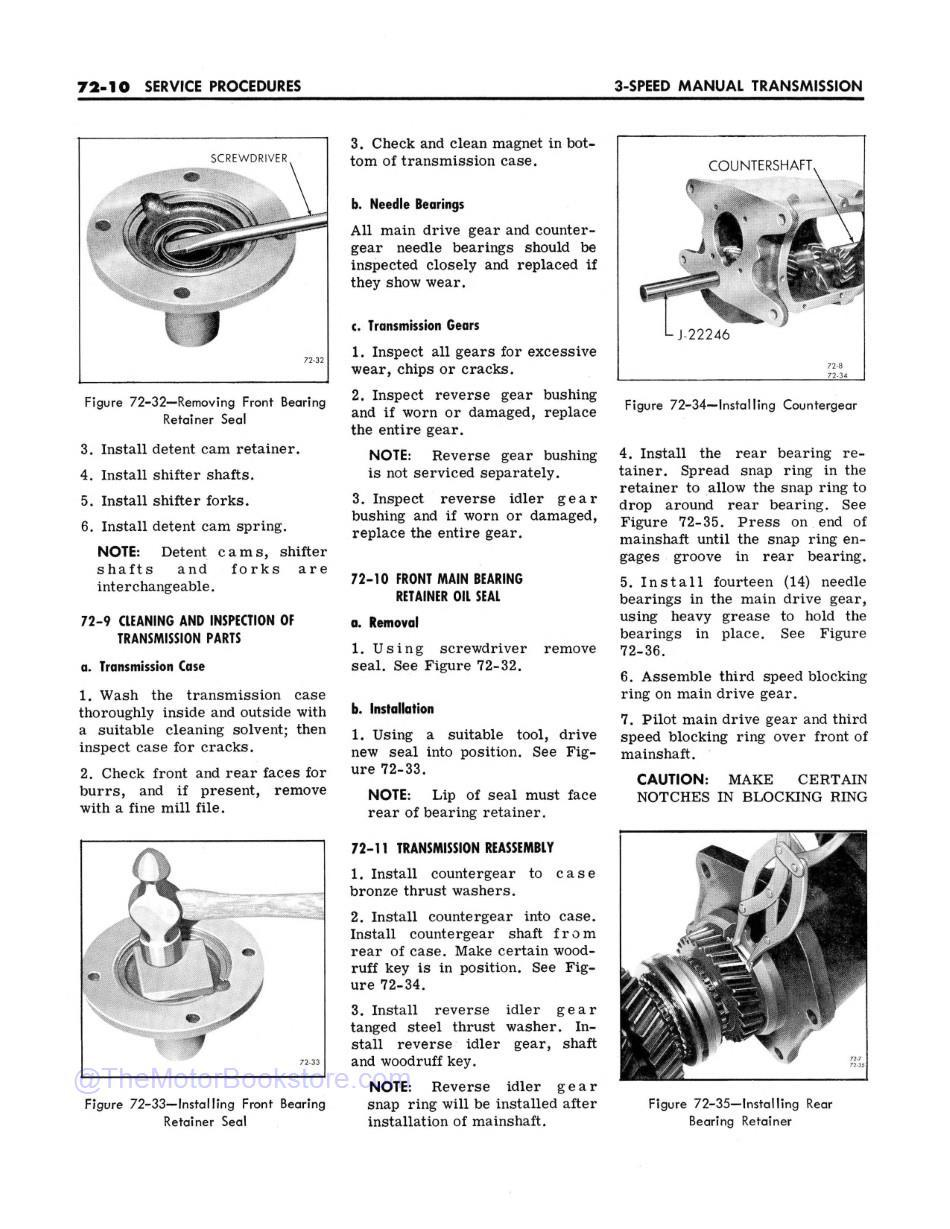 1966 Buick Chassis Service Manual (All Series)  Sample Page 2 - 3-Speed Manual Transmission Section