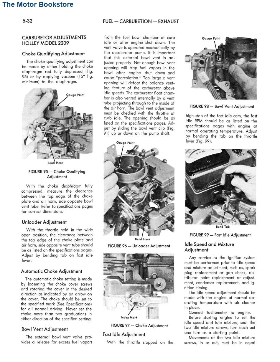 1967 AMC Technical Service Manual Rambler Rebel, Ambassador, Marlin Sample Page - Fuel - Carburetion - Exhaust