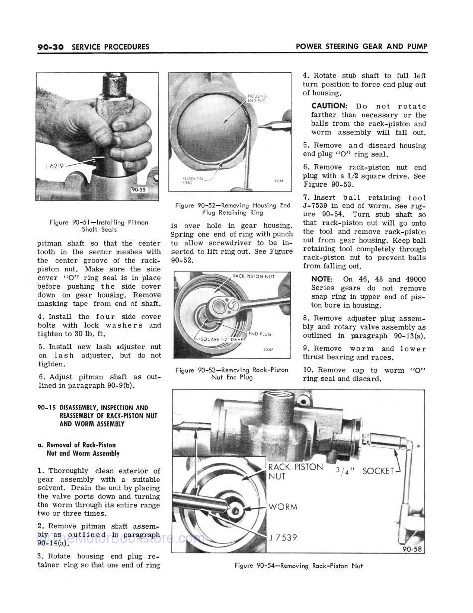 1967 Buick Chassis Service Manual (All Series)  Sample Page 2 - Power Steering Gear & Pump Section