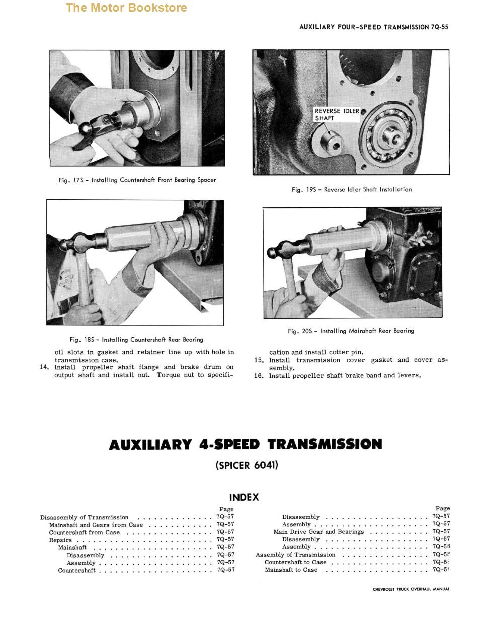 1967 Chevrolet Truck Chassis Overhaul Manual Sample Page - Transmission