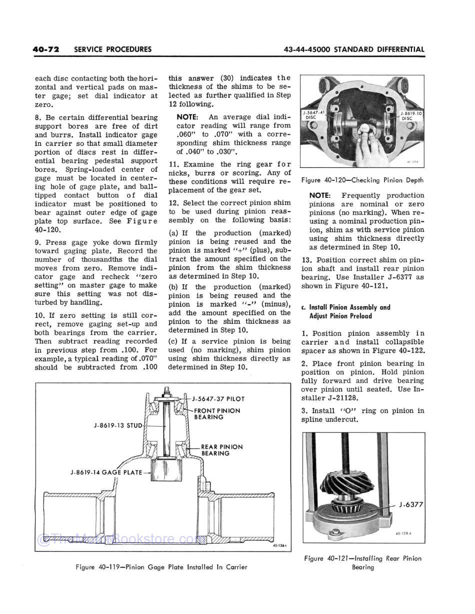 1968 Buick Chassis Service Manual (All Series) Sample Page 1 -Differential Service Procedures
