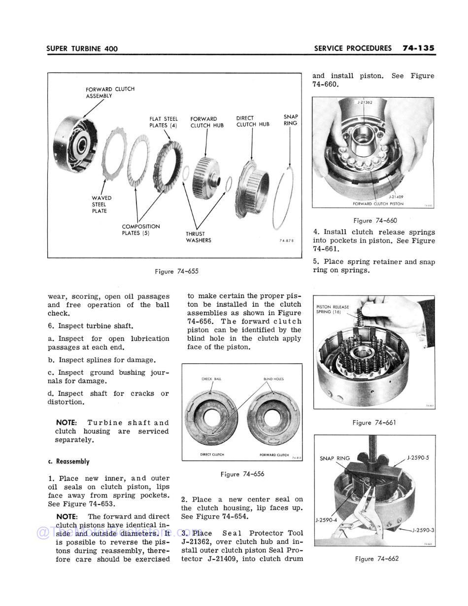 1968 Buick Chassis Service Manual (All Series)  Sample Page 2 - Super Turbine 400 Service Procedures