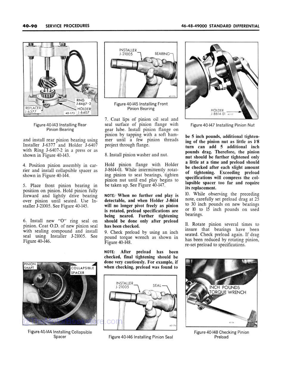 1969 Buick Chassis Service Manual (All Series) Sample Page 1 -Differential Service Procedures