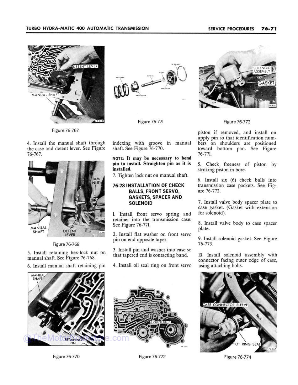 1969 Buick Chassis Service Manual (All Series)  Sample Page 2 - Turbo Hydra-Matic 400 Service Procedures