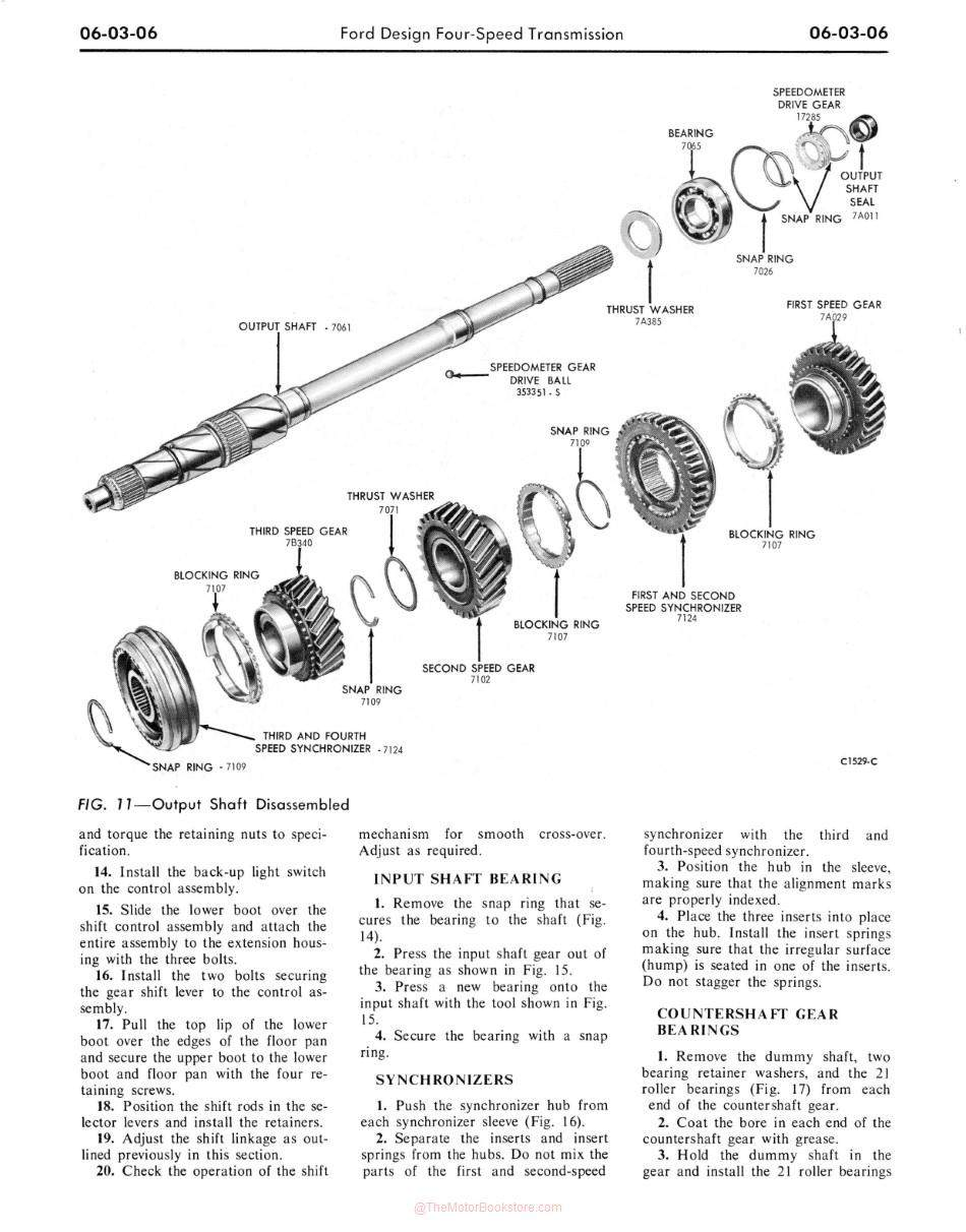1969 Ford Car Shop Manual Sample Page - Transmission Section