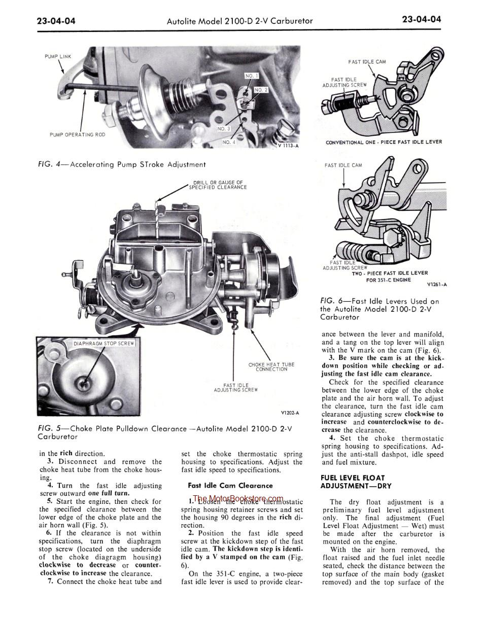 1970 Ford Truck Shop Manual Sample Page - Super Duty Engine